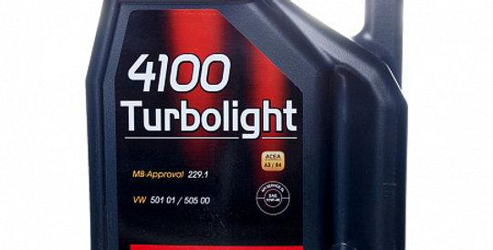 Моторное масло MOTUL 4100 Turbolight 10w40 4л