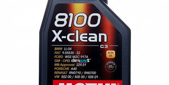 Моторное масло MOTUL 8100 X-clean 5w40 1л