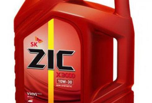 Масло моторное ZIC X3000 10W30 CH-4 SD п/син 6л.