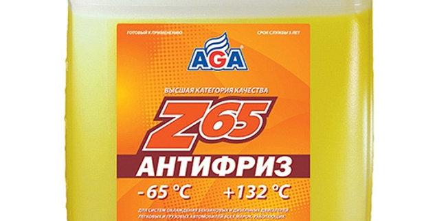 Антифриз AGA Z65 желтый-65 10л