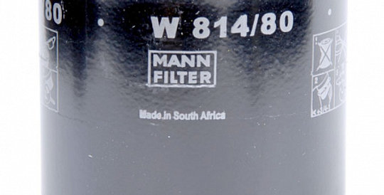 W814/80 MANN-FILTER Масляный фильтр