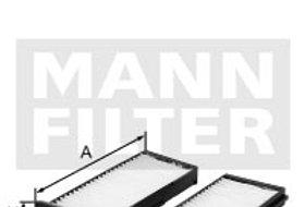 Фильтр салонный MANN FILTER CU23001/2