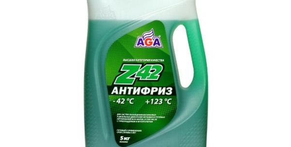 Антифриз AGA Z42 зеленый -42 5л