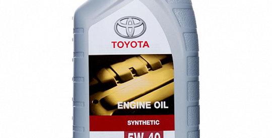 Моторное масло TOYOTA Motor Oil 5w40 1л