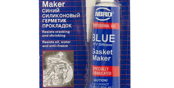 Силиконовый герметик прокладок ABRO синий 85г