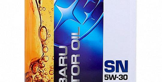 Моторное масло SUBARU Motor Oil SN 5w30  4 л