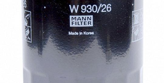 W930/26 MANN-FILTER Масляный фильтр