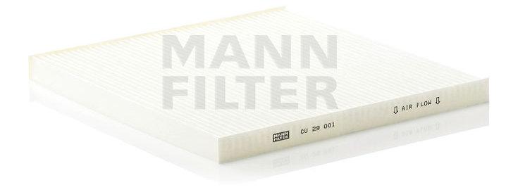 Фильтр салонный MANN FILTER CU29001