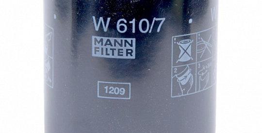 W610/7 MANN-FILTER Масляный фильтр