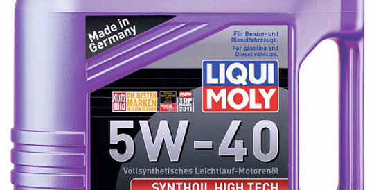 Моторное масло LIQUI MOLY Synthoil High Tech 5w40 4л