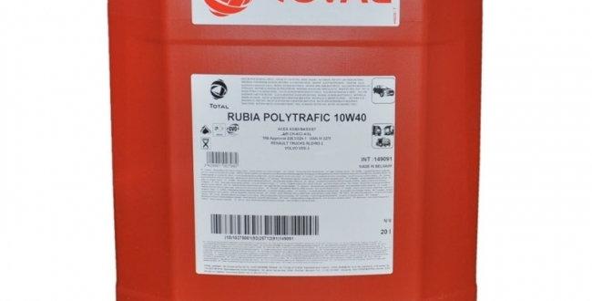 Масло моторное Total RUBIA POLYTRAFIC 10w40 20л.