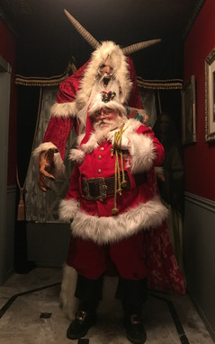 Krampus with Santa