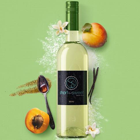 Wine Bottle Model & Photoshop Comp