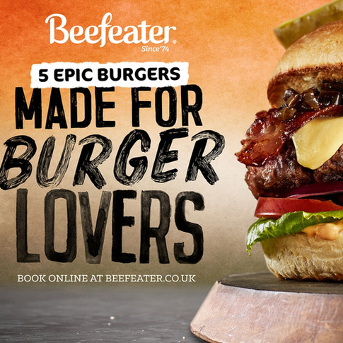 Beefeater Burger Campaign Artwork