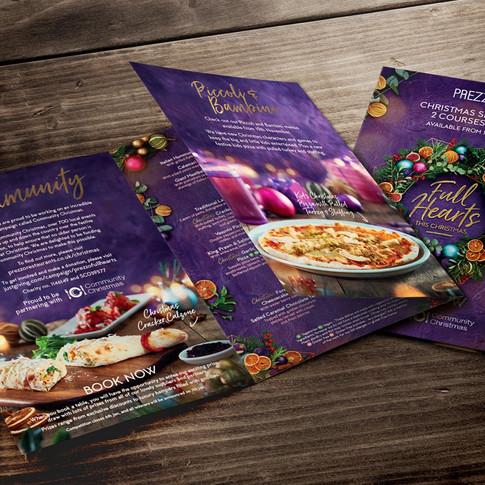 Prezzo Christmas Campaign Creative Artwork