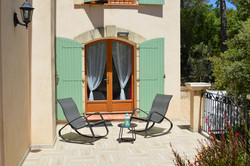 Terrasse privative en provence