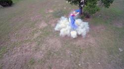 Drone video of ballistics