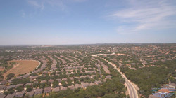 Aerial view from Helotes, Texas