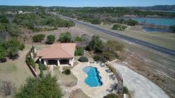 Aerial photo Canyon lake Texas