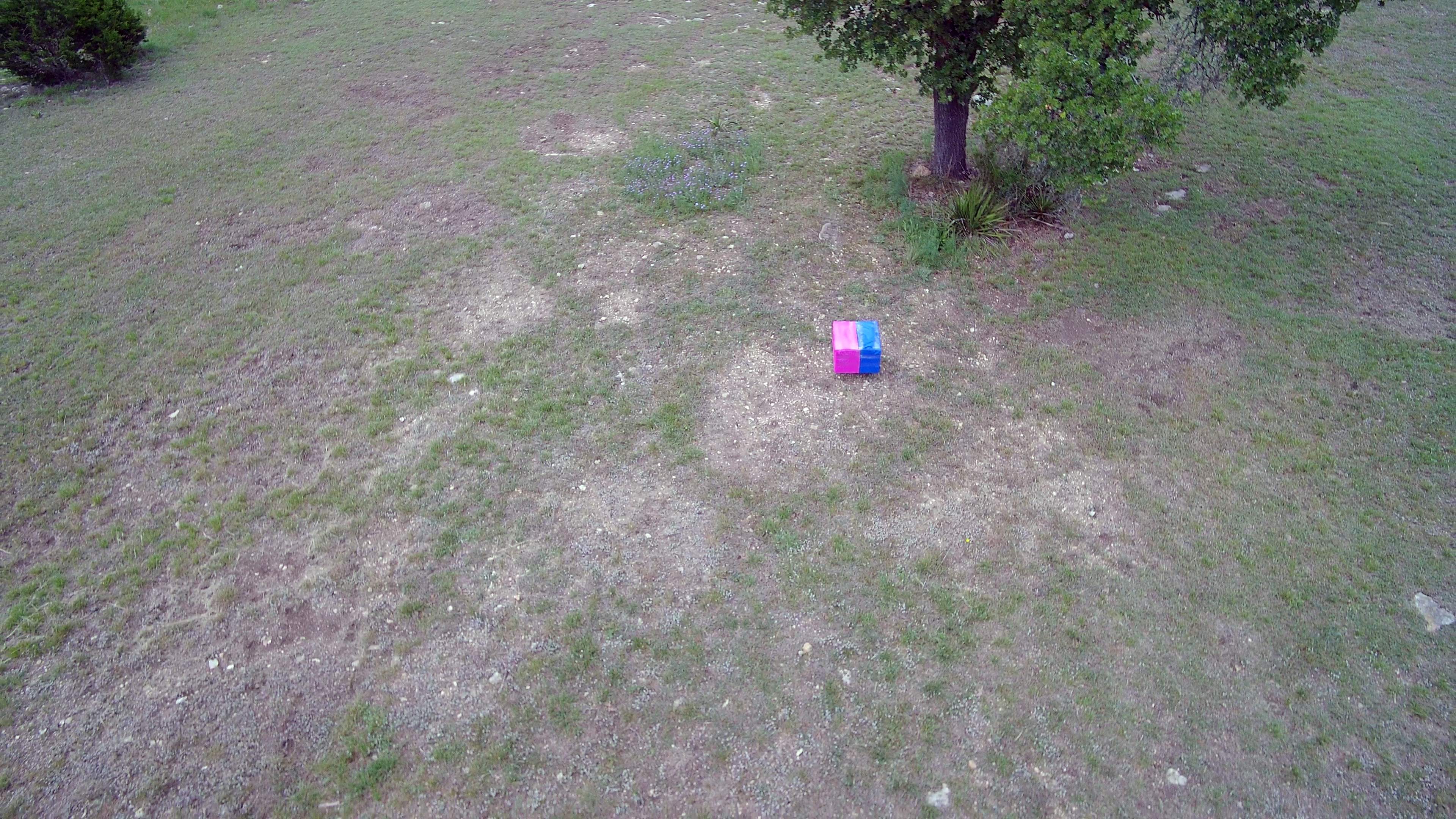 Drone video of ballistics