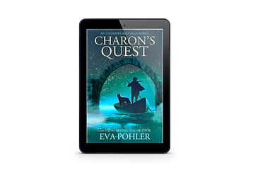 Cover for Charon's Quest on a Kindle.