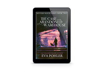 Cover for The Case of the Abandoned Warehouse on a Kindle.