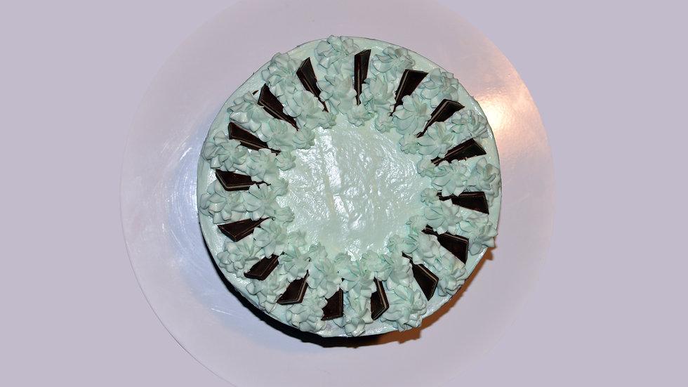 GREEK MINTY ZEBRA CAKE - with Greek Yogurt, Chocolate, Mint