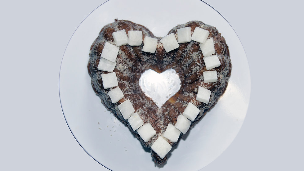 KNOCK-OUT CAKE - Lamington cake with German chocolate and Coconut