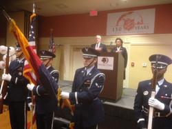 Honor Guard Presenting Flags