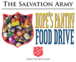 Salvation Army Hope's Pantry Food Drive