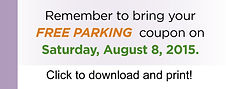 Senior Energy Assistance Expo Free Parking Coupon