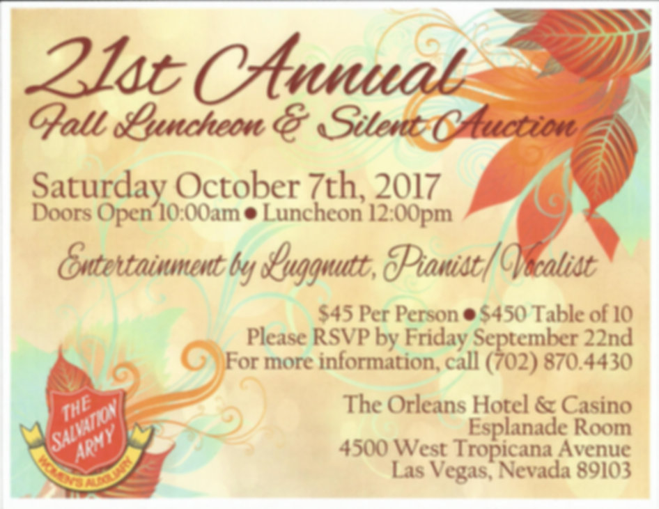 The Salvation Army Women's Auxiliary Luncheon & Silent Auction