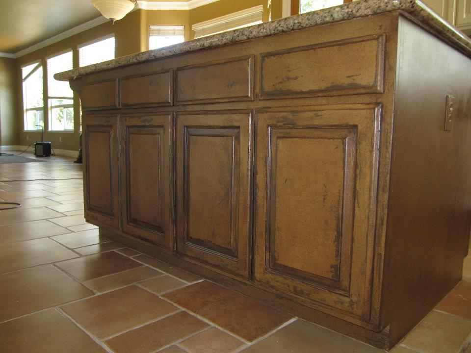 Plaster and Glaze Cabinet Finish