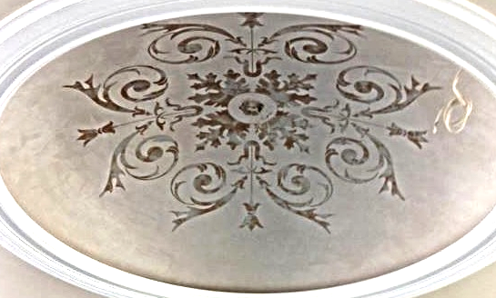 Metallic Plaster with Stencil