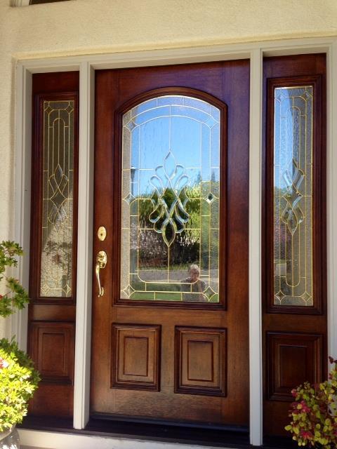 Front door stain renovation