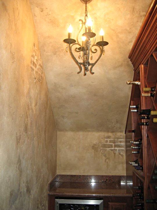 Glazed Plaster Wine Room