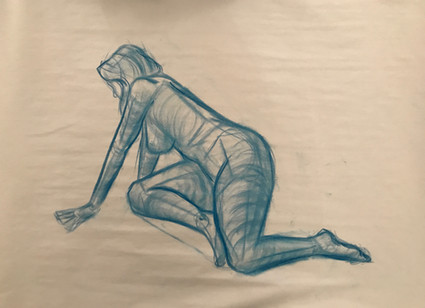 10 min gesture with nu pastel and newsprint