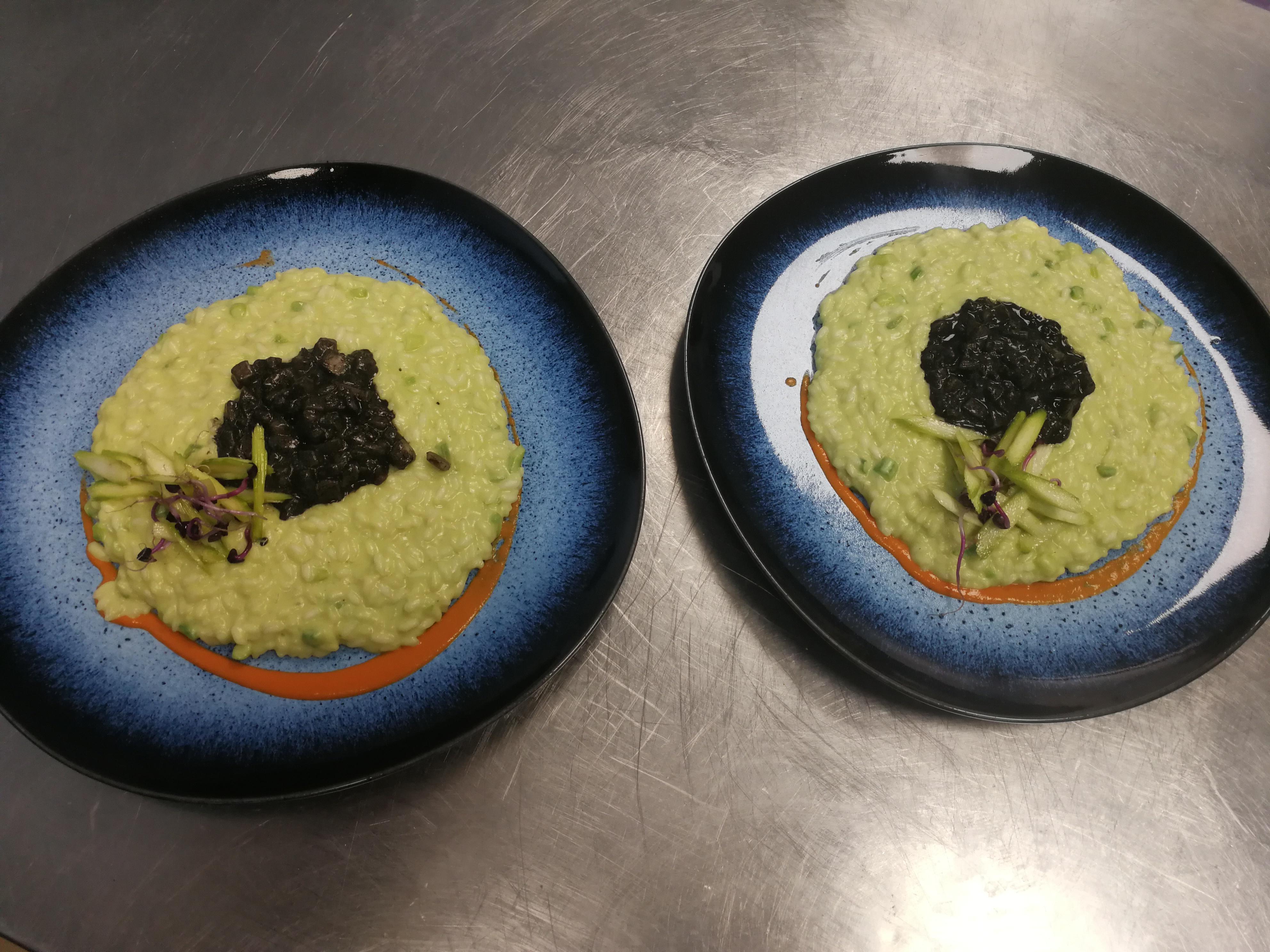 risotto asparagi e seppioline