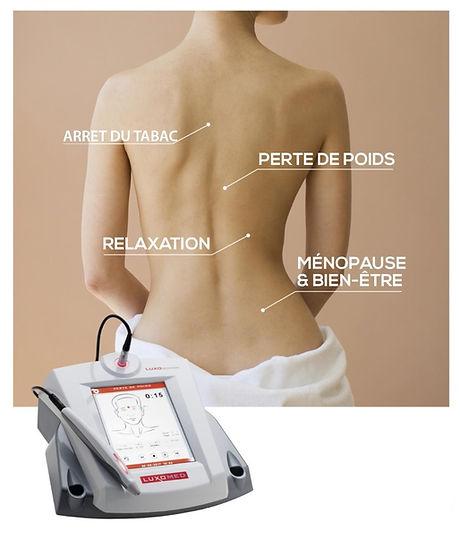 Luxopuncture, Luxopuncture Paris, Luxopuncture régime, Luxopuncture perte de poids, Luxopuncture ménopause,régime,arrête du tabac,perte de poids, ménopause