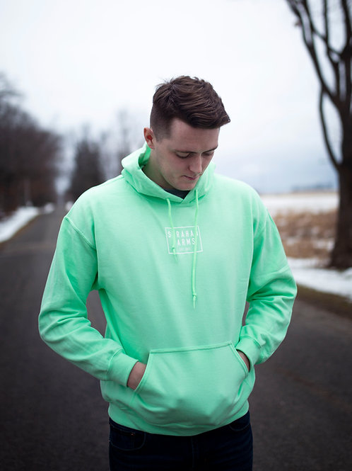 Mint Green Hooded Sweatshirt