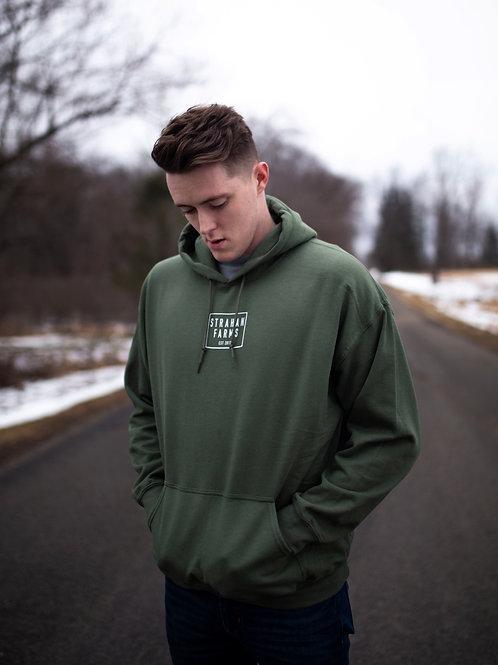 Military Green Hooded Sweatshirt