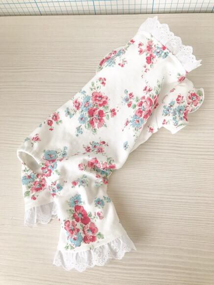 花柄ロンパース