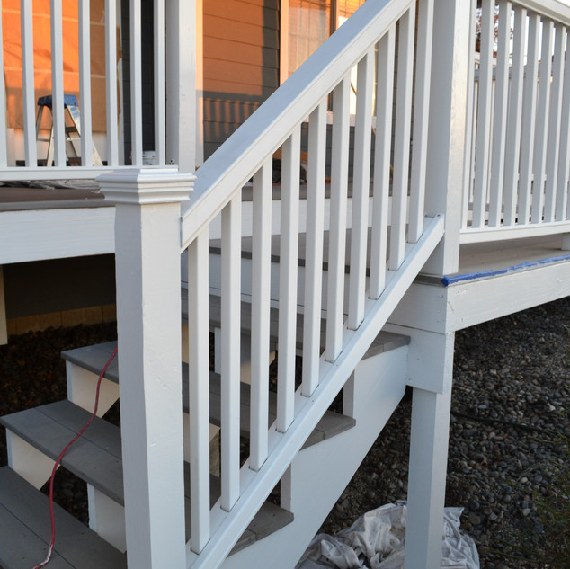 Exterior stairway painting