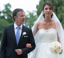 Proud dad and bride