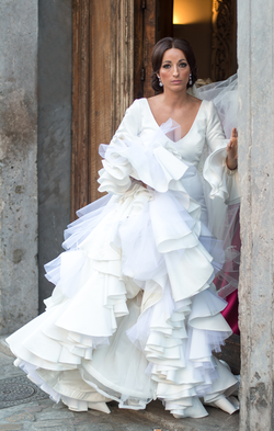 Flamenco dancer bride in Spain