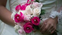 """I can't decide between a real or artificial bouquet -- which gives a nicer shot?"""