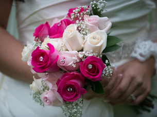 """""""I can't decide between a real or artificial bouquet -- which gives a nicer shot?"""""""