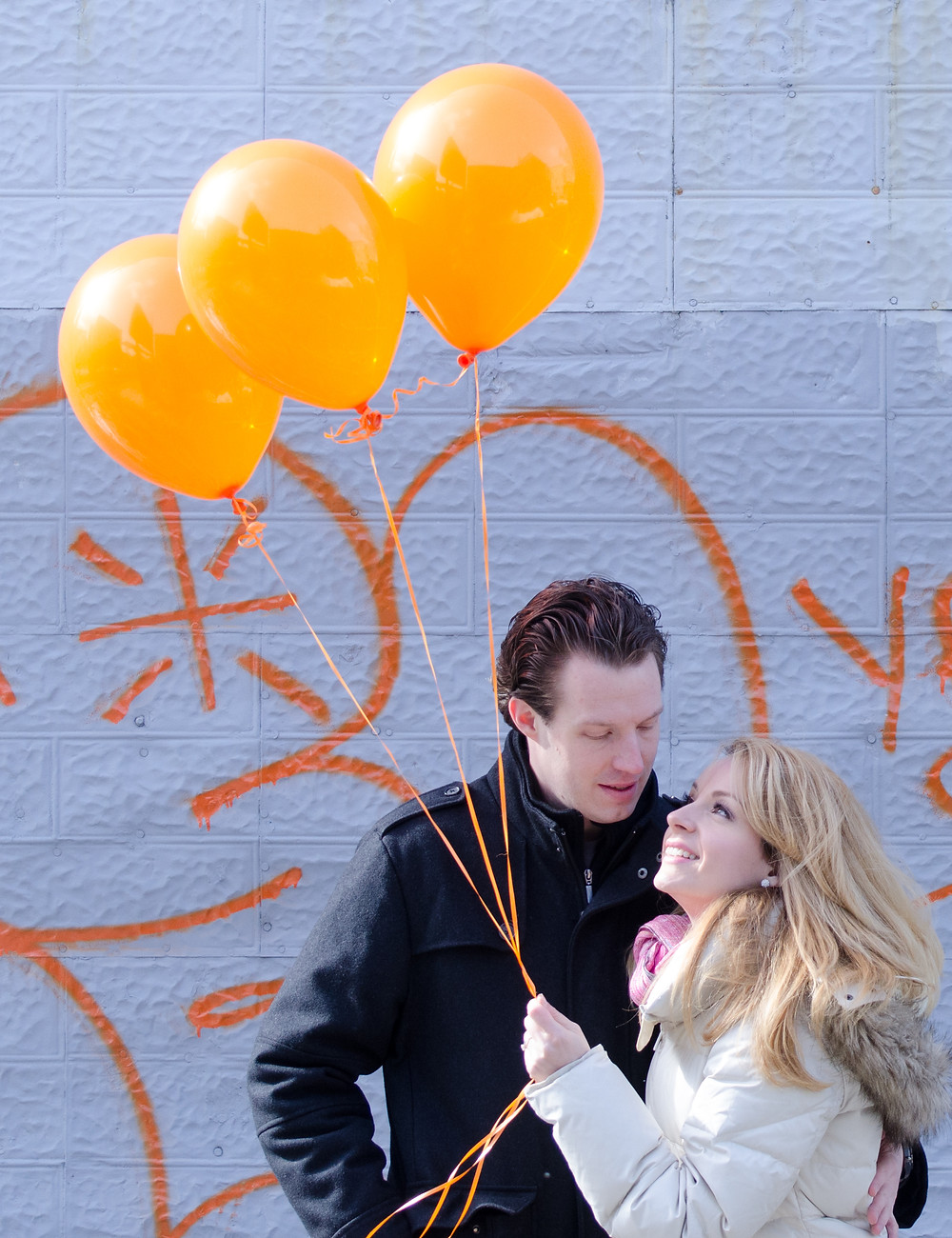 Engagement balloons - Harrison Baker Wedding Photography