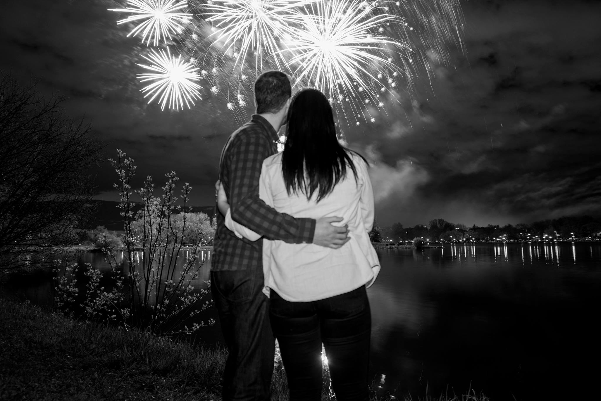 Ottawa engagement shoot, fireworks