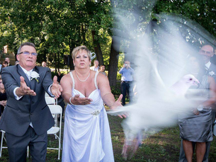 How Does a Photographer Capture the Release of Wedding Doves?